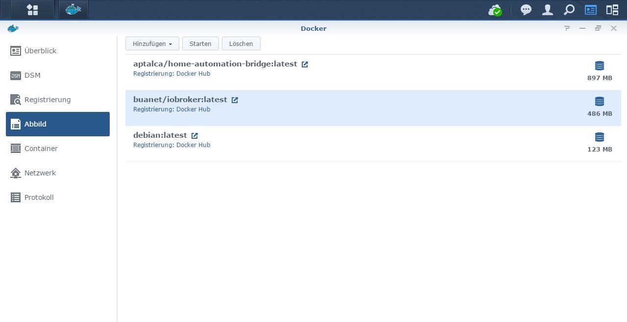 Archiv] ioBroker unter Docker auf der Synology DiskStation bis v20 ...