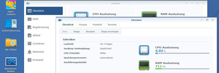 [Archiv] ioBroker unter Docker auf der Synology DiskStation (bis v2)
