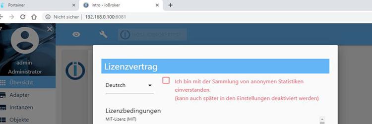 ioBroker unter Docker auf der Synology DiskStation (ab v3)