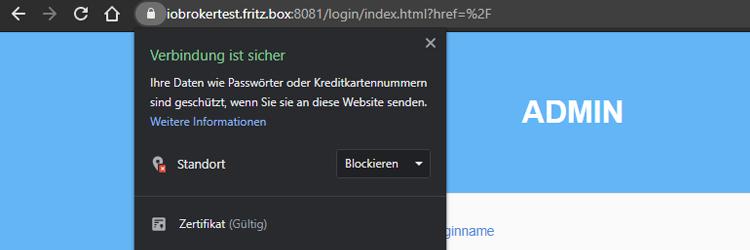 SSL und Authentifizierung für den ioBroker Admin